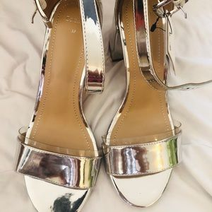 Beshka silver shoes (never worn)